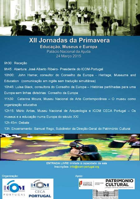XII Jornadas de Primavera do ICOM Portugal (2015) - Educação, Museus e Europa